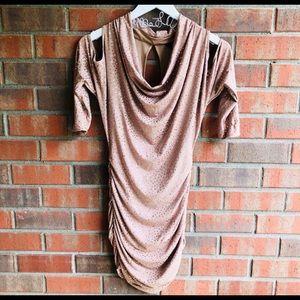 Guess XS dress beige w glitter
